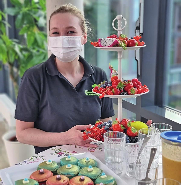 Die Köstlichkeiten von Claudia Petzold und ihrem Team machen Bewohnern und Mitarbeitenden immer eine große Freude.