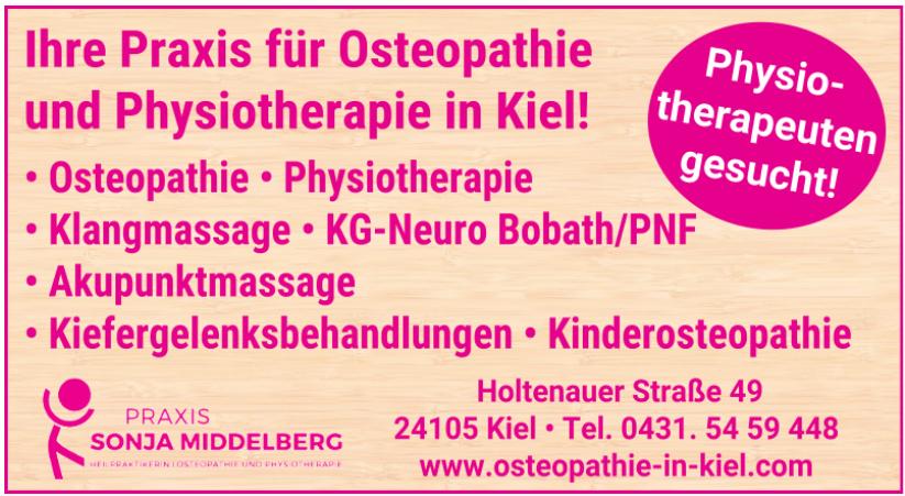 Osteopathie Praxis Sonja Middelberg