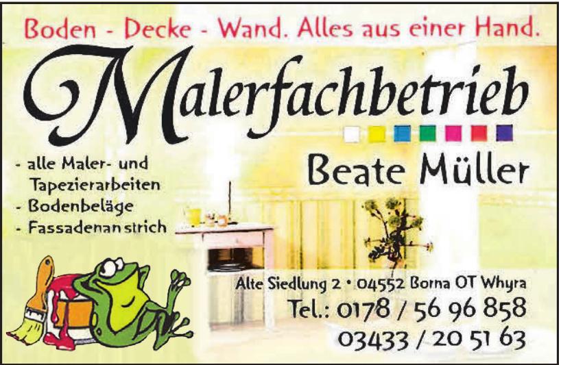 Malerfachbetrieb Beate Müller