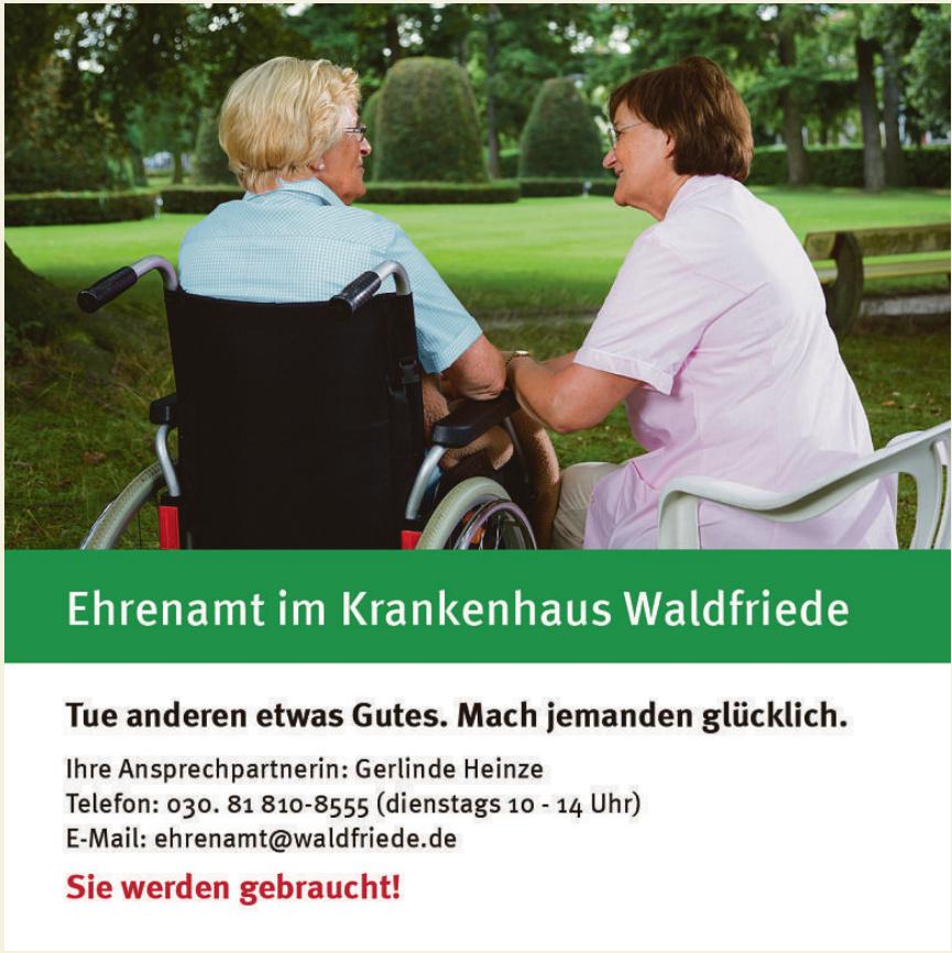 Ehrenamt im Krankenhaus Waldfriede