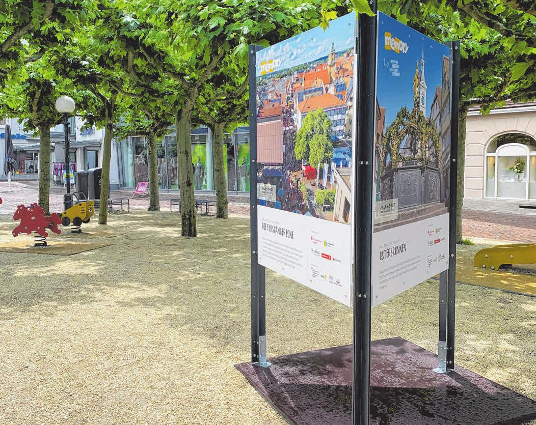 Die Memory-Tafeln stehen in der gesamten Innenstadt und laden zum Spielen ein. Wer mindestens sechs Paare findet, kann ein leckeres Eis gewinnen. FOTOS: MYRIAM HENNINGER