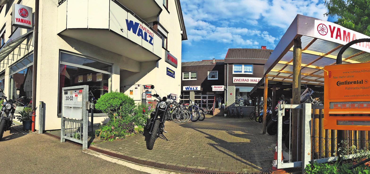 Der Fahrradspezialist Zweirad Walz in der Steinbrunnenstraße 30 in Stuttgart-Möhringen.