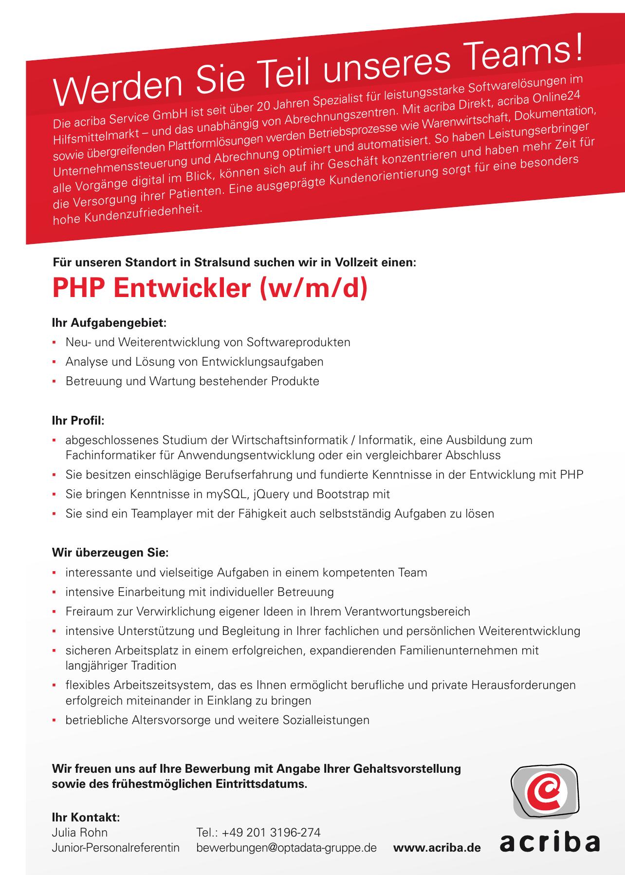 acriba Sebastian Scheidtmann Teamleiter Ausbildung & Recruiting