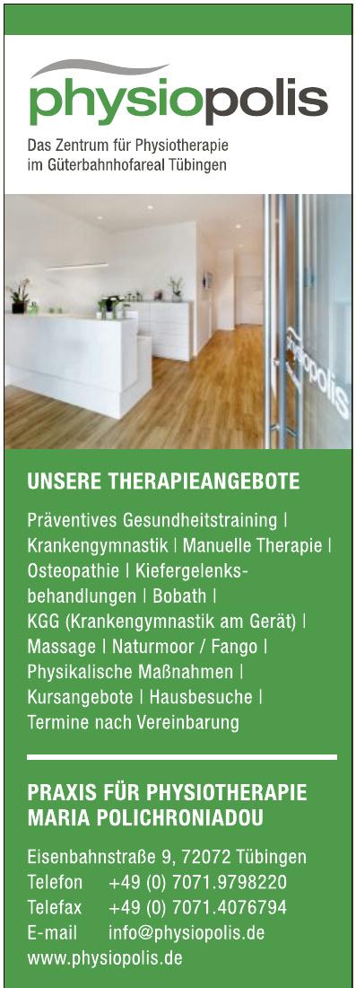 Praxis für Physiotherapie Maria Polichroniadou