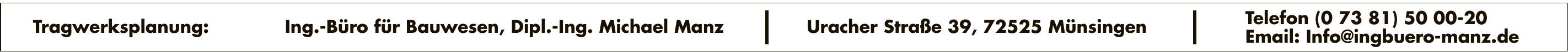 Ing.-Büro für Bauwesen, Dipl.-Ing. Michael Manz