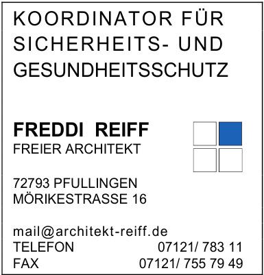 Freddi Reiff Freier Architekt