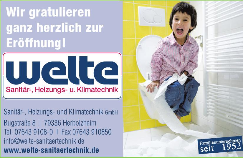 Welte Sanitär-, Heizungs- und Klimatechnik GmbH