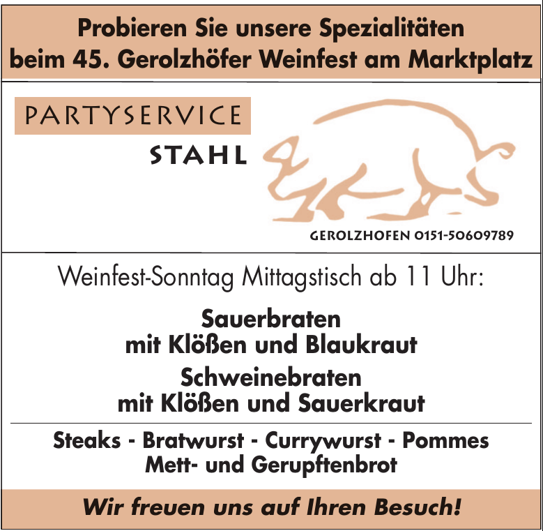 Partyservice Stahl