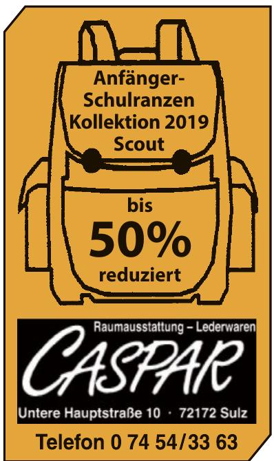 Gaspar Raumausstattung, Lederwaren