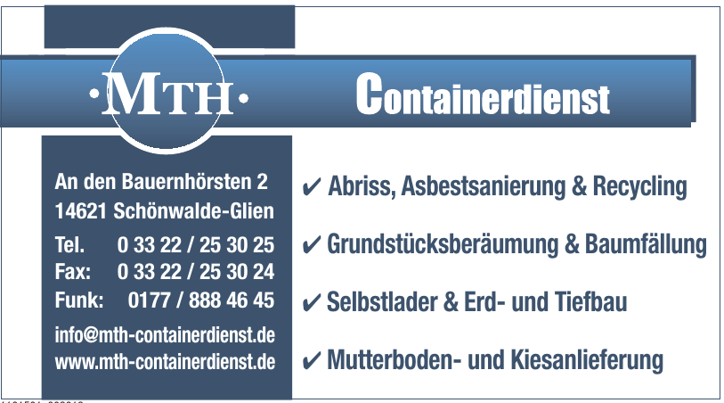 MTH Containerdienst