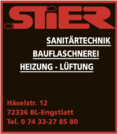 Stier Sanitärtechnik, Bauflaschnerei, Heizung - Lüftung