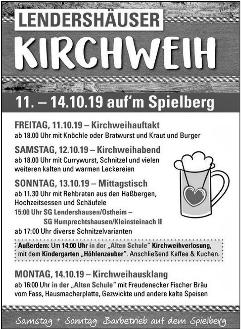 Lendershäuser Kirchweih