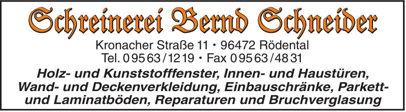 Schreinerei Bernd Schneider