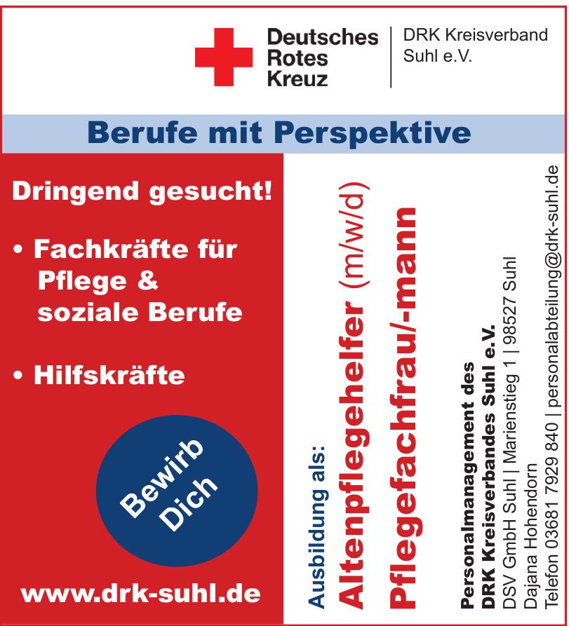 DRK Kreisverbandes Suhl e.V. DSV GmbH Suh