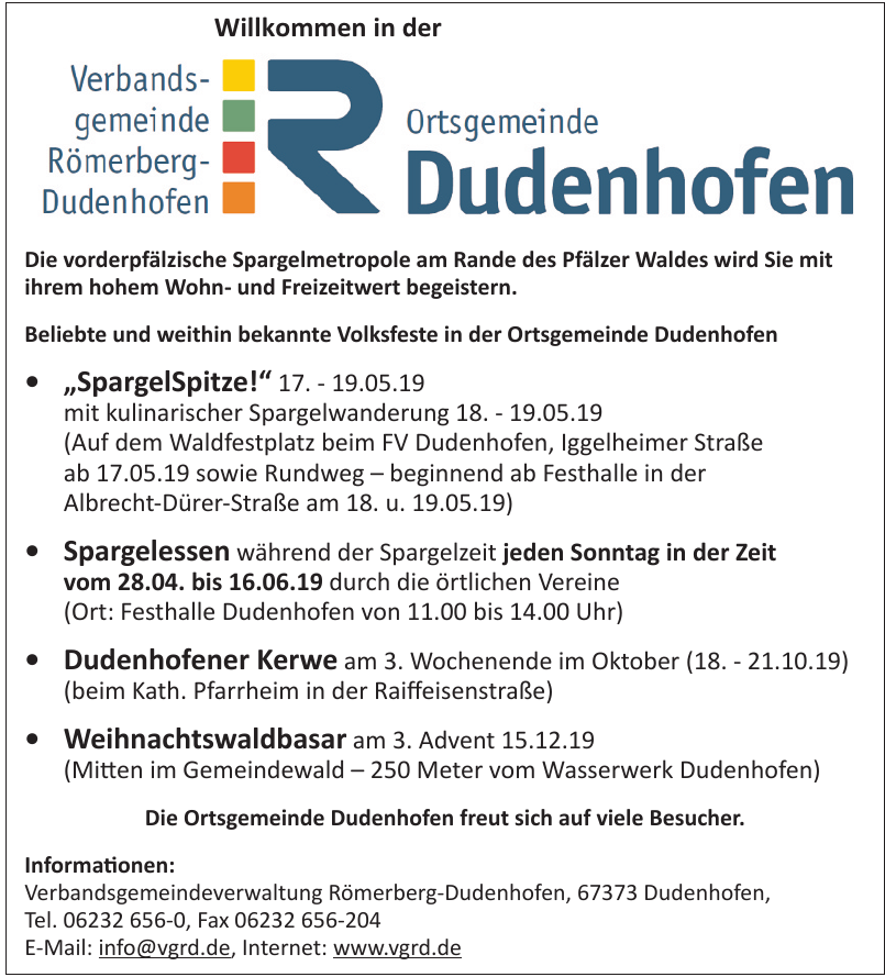 Verbandsgemeindeverwaltung Römerberg-Dudenhofen