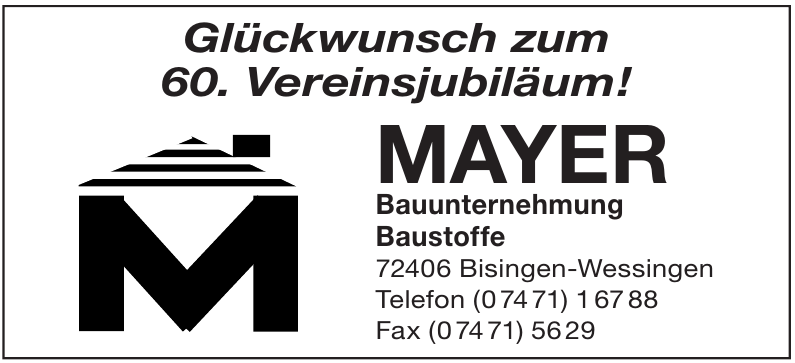 Mayer Bauunternehmung, Baustoffe