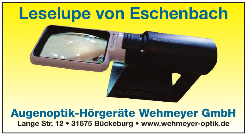 Augenoptik-Hörgeräte Wehmeyer GmbH