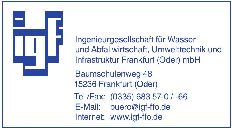 Ingenieurgesellschaft für Wasser und Abfallwirtschaft, Umwelttechnik und Infrastruktur Frankfurt (Oder) mbH