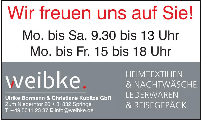 weibke - Ulrike Bormann & Christiane Kubitza GbR