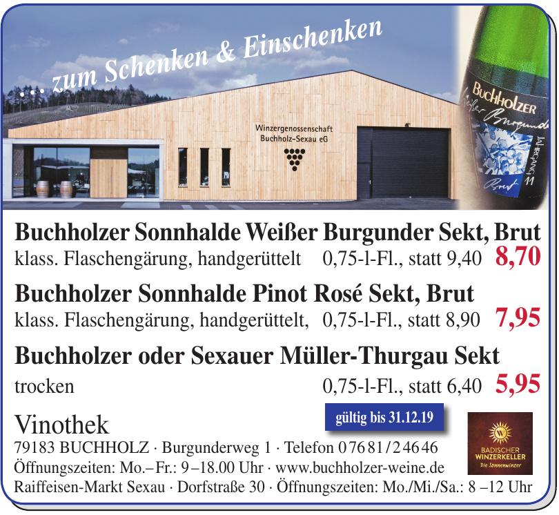 Winzergenossenschaft Buchholz/Sexau eG - Vinothek