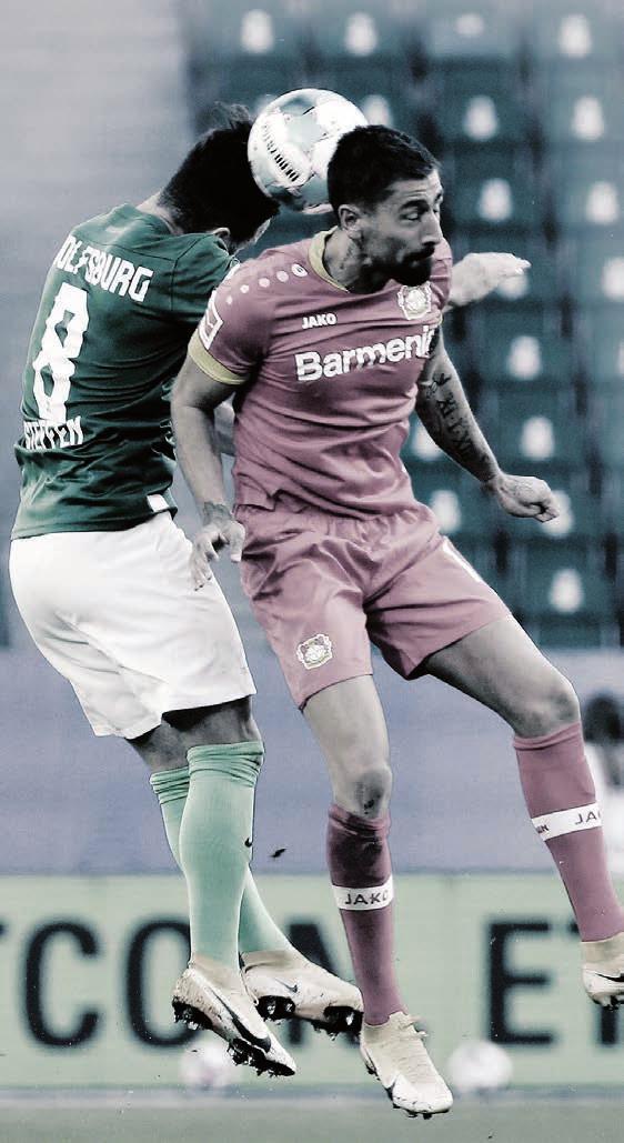 Rückrundenstart: Für den VfL Wolfsburg (links Renato Steffen) beginnt die zweite Saisonhälfte mit dem Spiel bei Bayer Leverkusen.