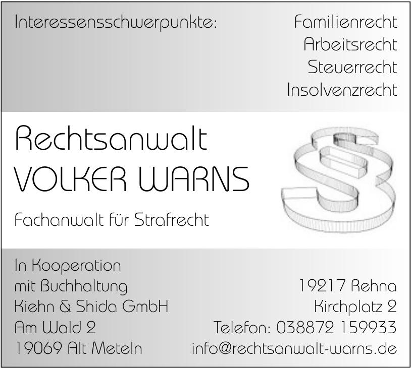 Rechtsanwalt Volker Warns - Im Kooperation mit Buchhaltung Kiehn & Shida GmbH