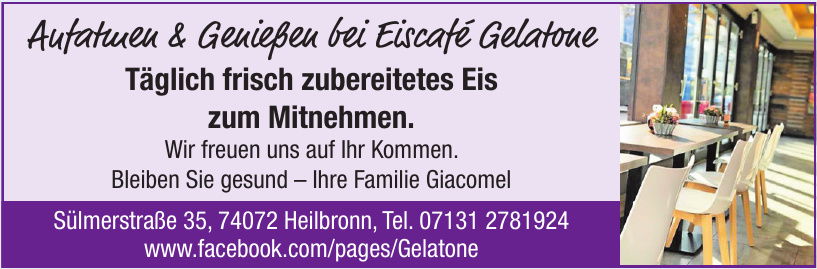 Aufatmen & Genießen bei Eiscafé Gelatone