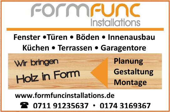 FormFunC Installations