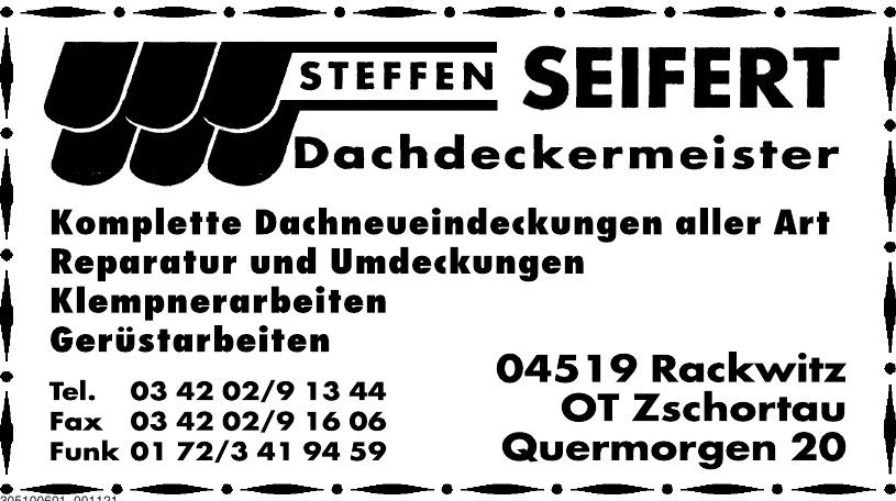 Dachdeckermeister Steffen Seifert