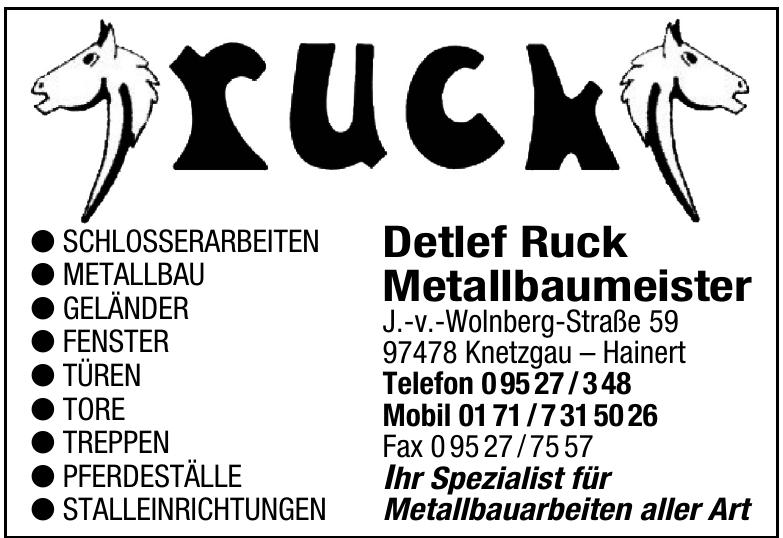 Detlef Ruck Metallbaumeister
