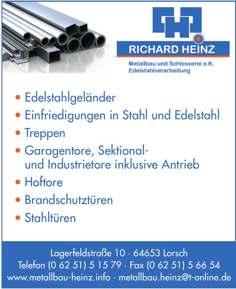 Richard Heinz Metall und Schlosserei e. K. Edelstahlverarbeitung