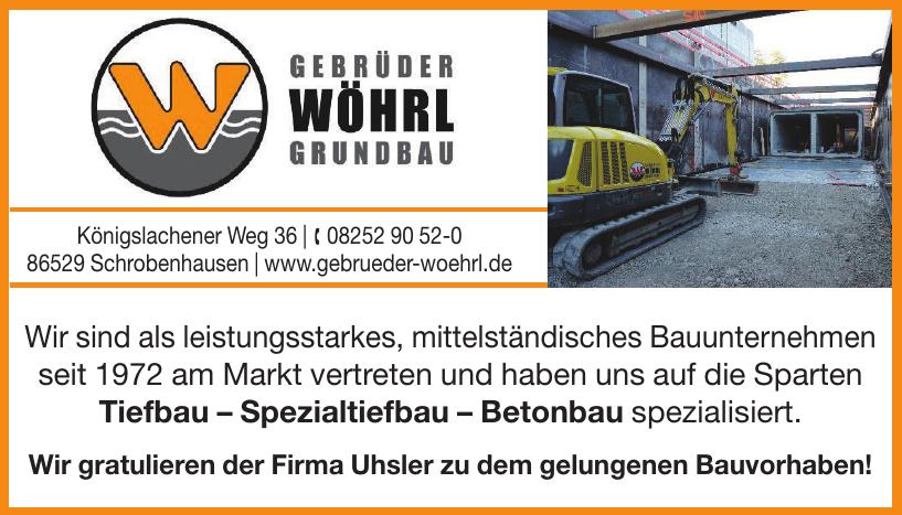 Gebrüder Wöhrl Grundbau