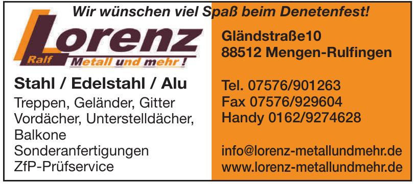 Lorenz Mettall und mehr