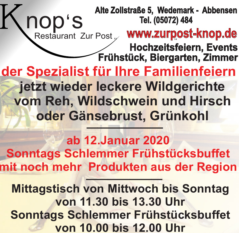 Knop´s Restaurant Zur Post