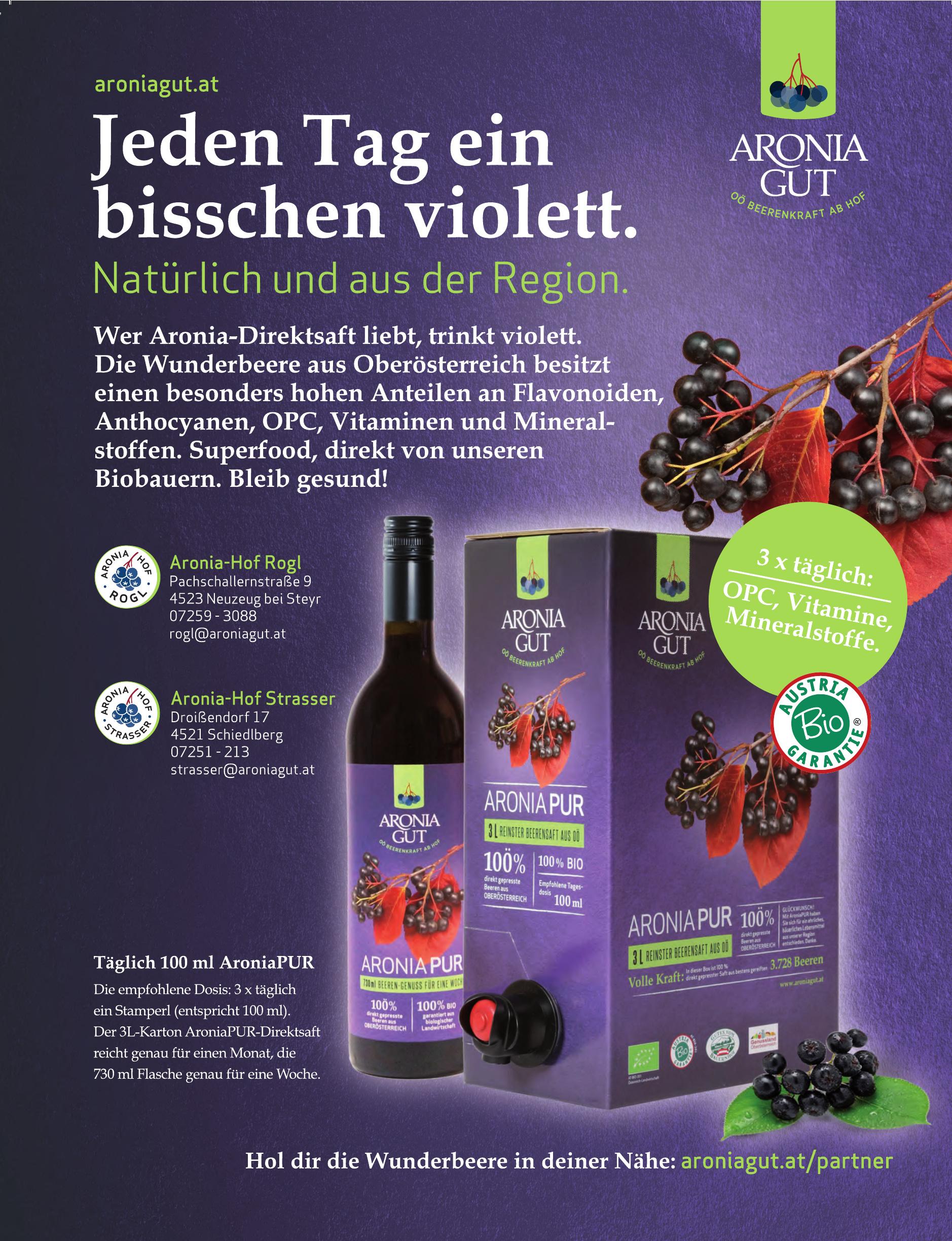 Aroniagut - Aronia-Hof Rogl