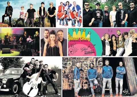 Noch bis zum 28. August rocken jeden Donnerstag verschiedene Bands den Zimmerplatz in Völklingen. Collage: Stadt Völklingen