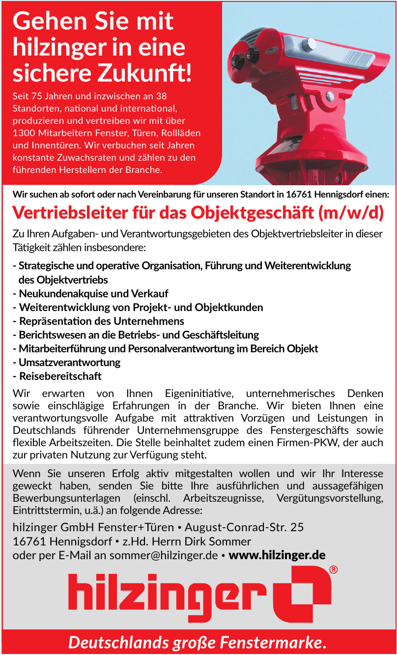 hilzinger GmbH Fenster + Türen