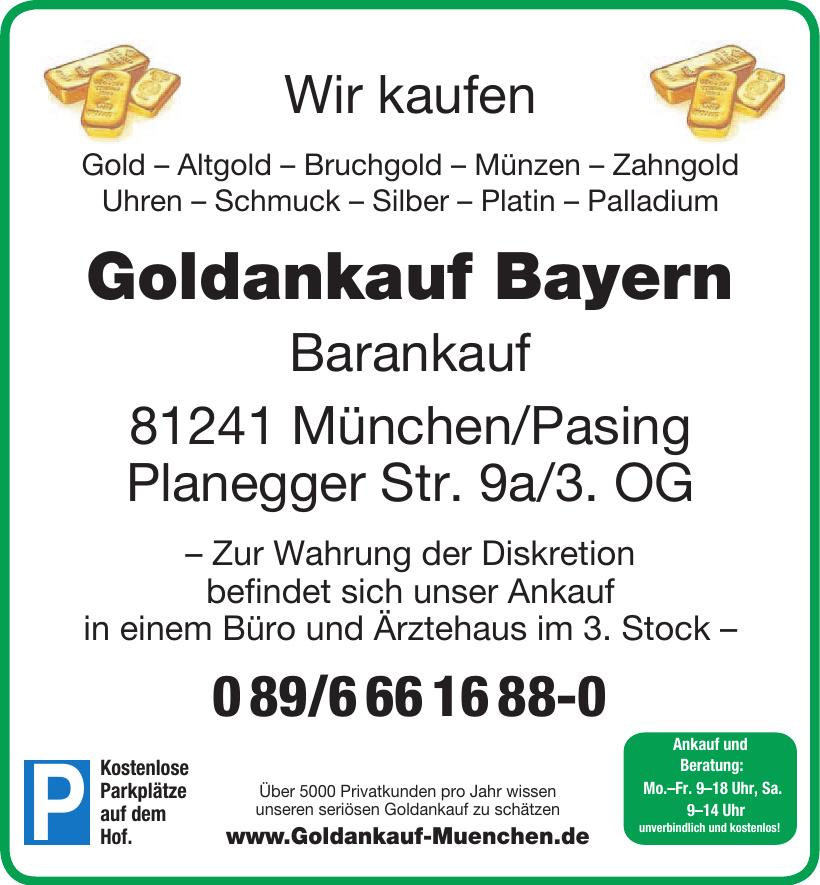 Goldankauf Bayern