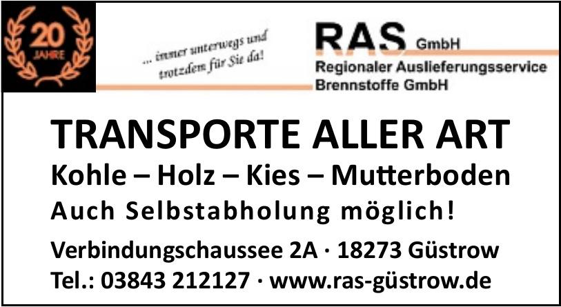 RAS GmbH Regionaler Auslieferungsservice Brennstoffe GmbH