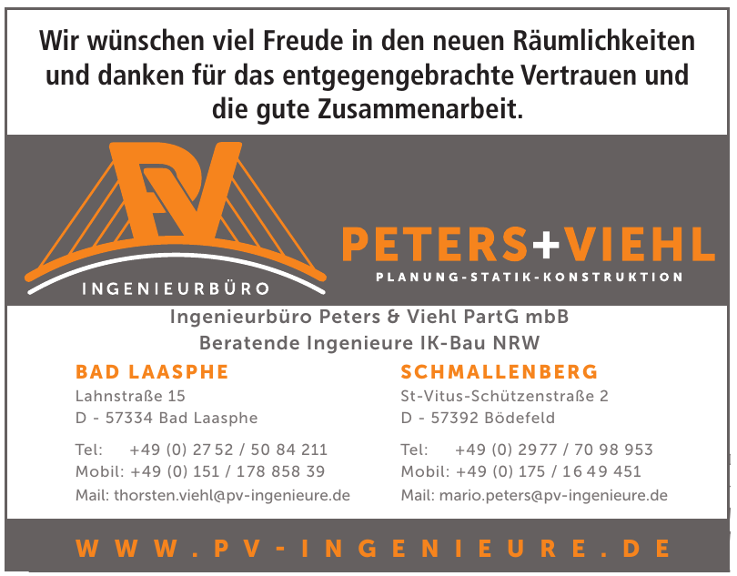 Ingenieurbüro Peters + Viehl PartG mbB
