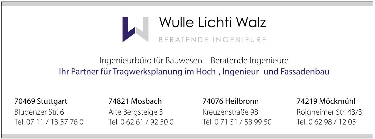 Wulle Lichti Walz Ingenieuere