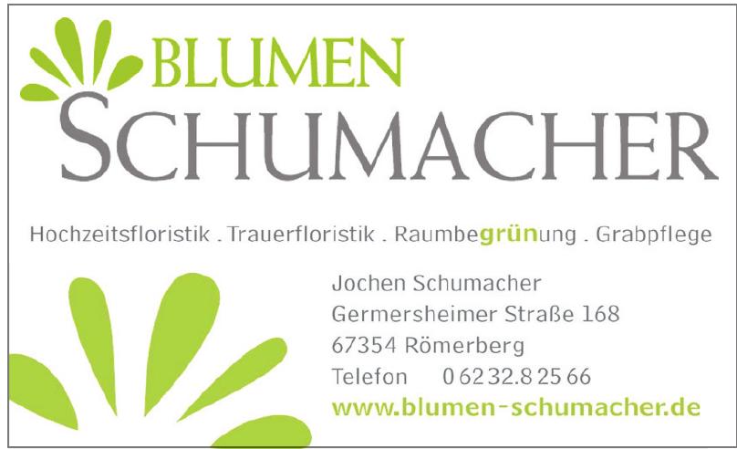 Blumen Schumacher