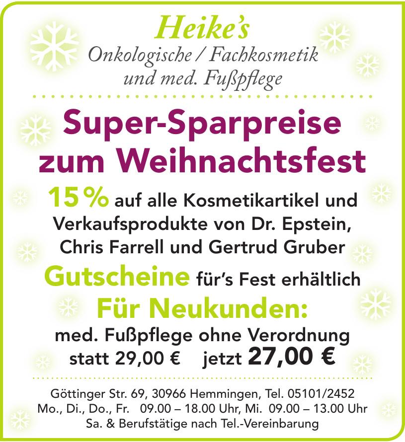Heike's Onkologische / Fachkosmetik und med. Fußpflege