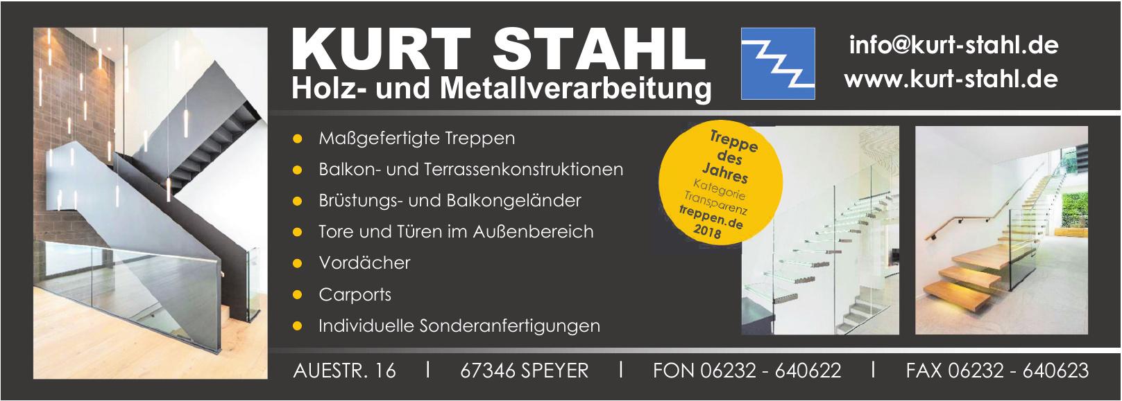 Kurt Stahl Holz- und Metallverarbeitung