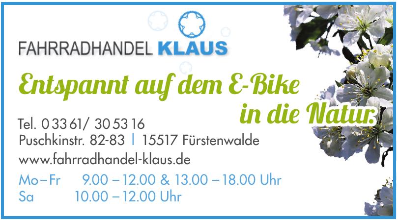 Fahrradhandel Klaus