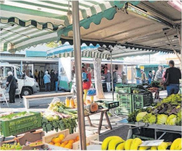 Markttag am Eselsberg. Foto: Petra Starzmann