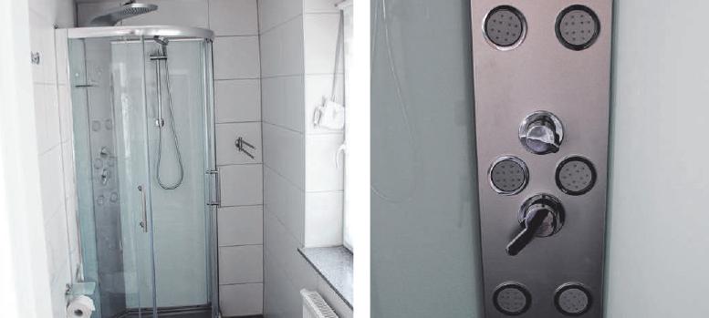 Eine hochmoderne Dusche.