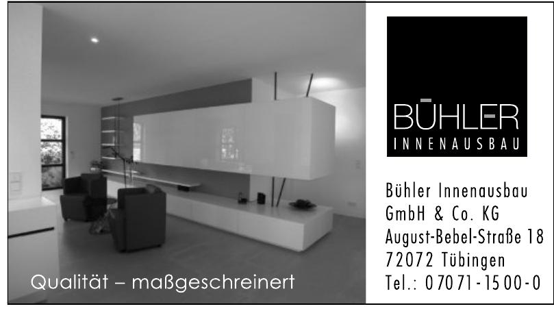 Bühler Innenausbau GmbH & Co. KG