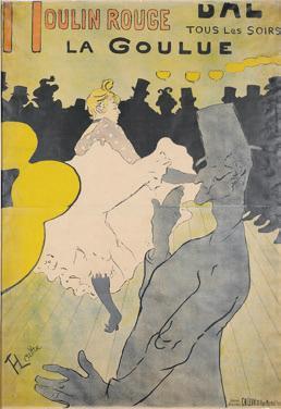 Henri de Toulouse-Lautrec: Moulin Rouge – La Goulue, 1891, Musée d'Ixelles, Brüssel. Foto: © Musée d'Ixelles-Bruxelles / Courtesy of Institut für Kulturaustausch, Tübingen