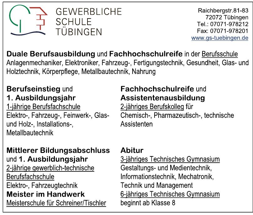 Gewerbliche Schule Tübingen